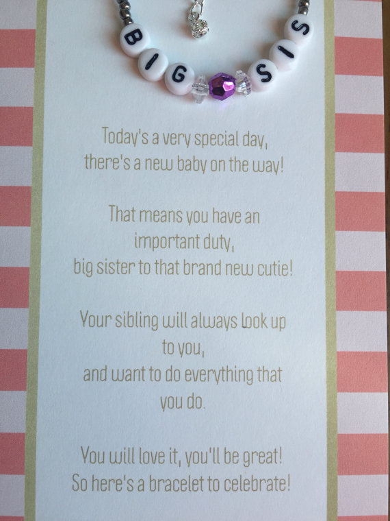 Big Sister Bracelet Big Sister Big Sister Gift Big Sister Card New