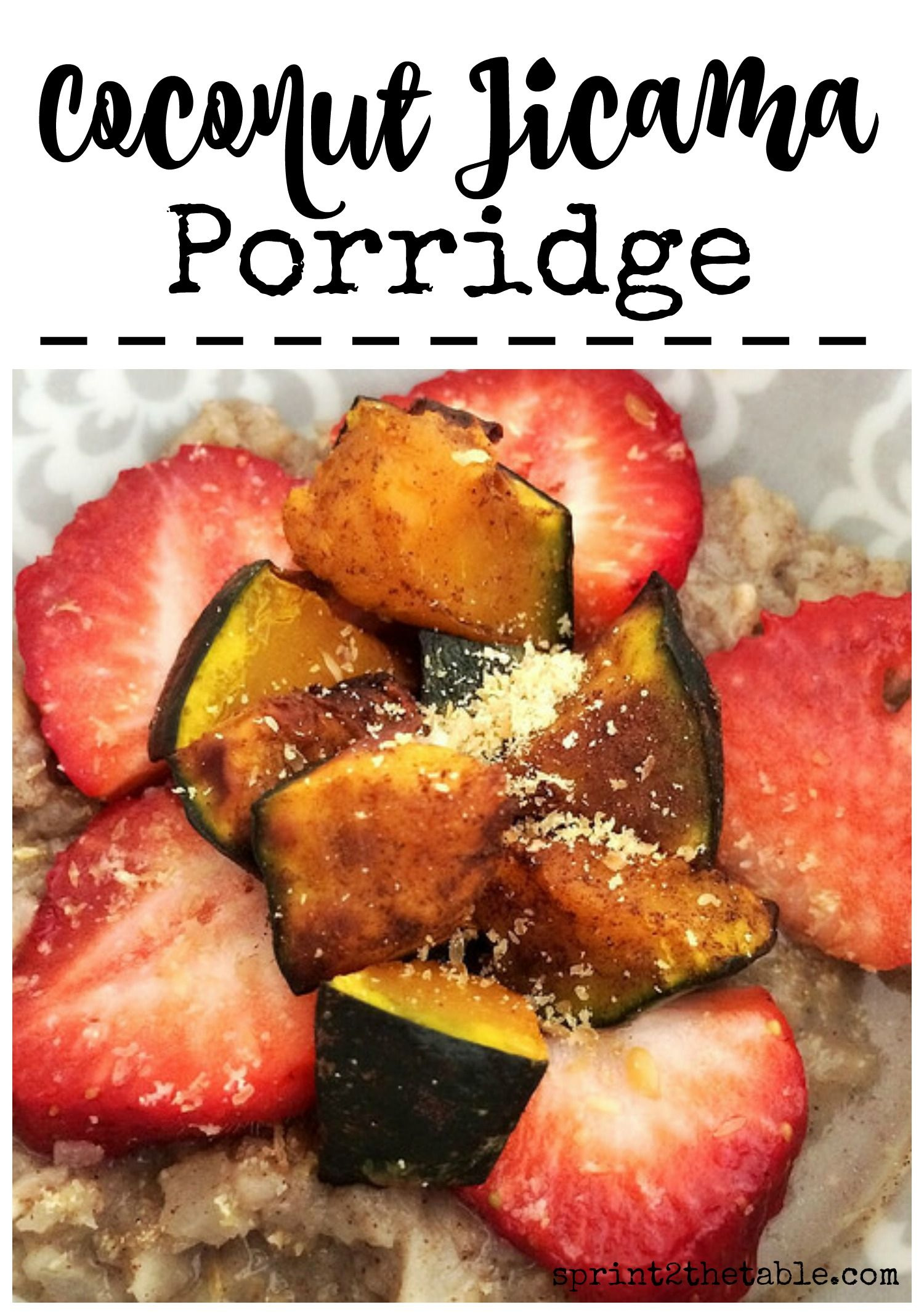 Coconut Jicama Breakfast Porridge - filled with protein and fiber to leave you…