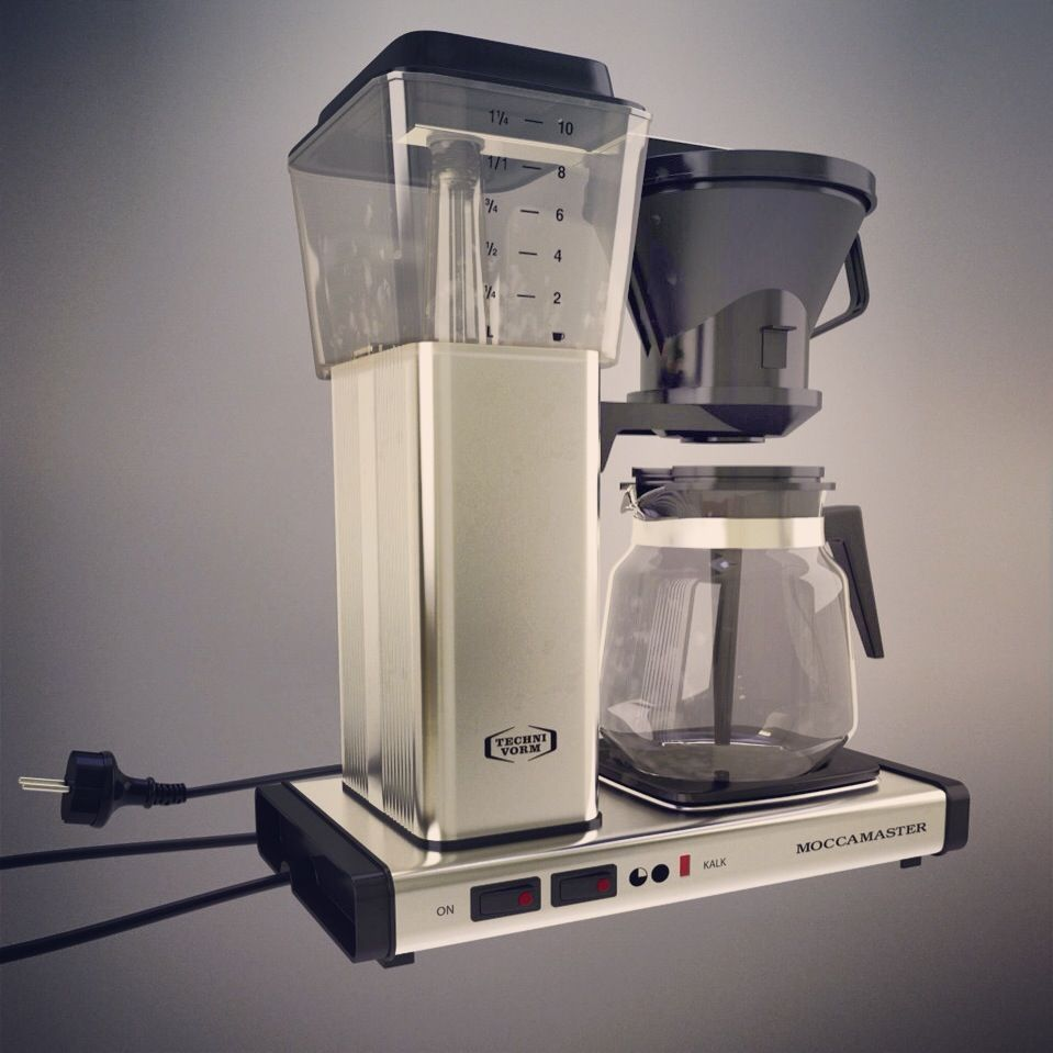 My latest 3D model of the Moccamaster Drip coffee maker