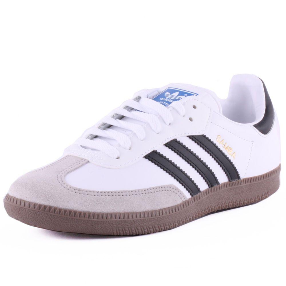Adidas Samba hombre Zapatillas  Leather & Suede blanco negro Zapatillas hombre Zapatos nuevos 9e6f91