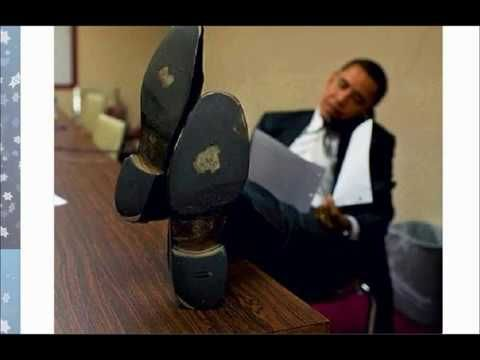 Obama Posture – Standing At the Bar Waiting for a Drink As He Speaks Wit...