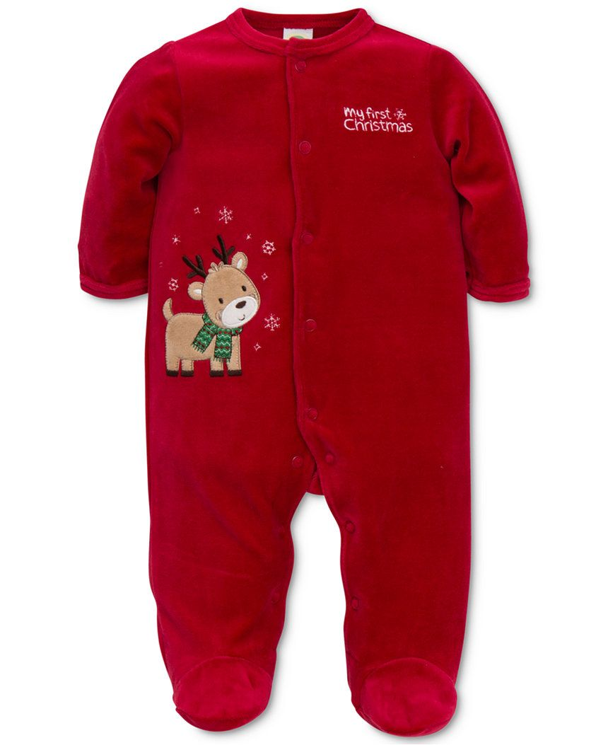 787fc7191 Little Me Baby Boys' 1-Pc. Footed Reindeer Pajamas - Baby Girl (0-24 months )…