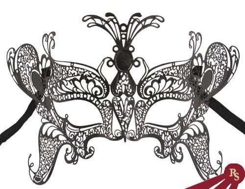 Black Laser Cut Venetian Masquerade Butterfly Fairy Mask | Costume ...