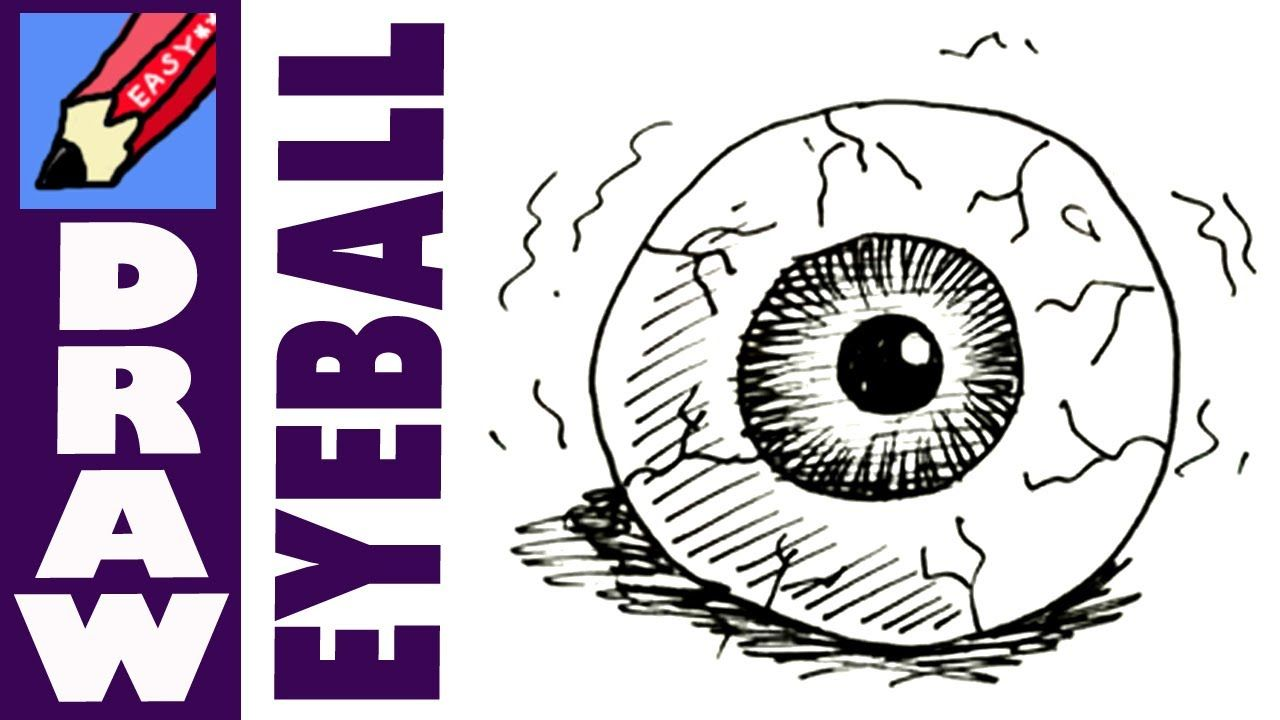 How To Draw An Eyeball With Images Halloween Drawings Scary