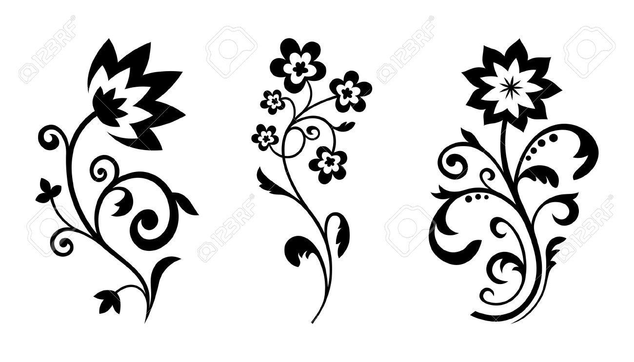 Resultado de imagen para flores en blanco y negro | tareas ...