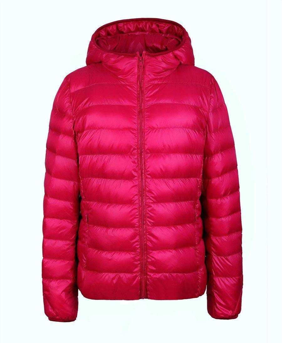 winter women down jacket ultra light down snow coat hooded 90 white rh pinterest com