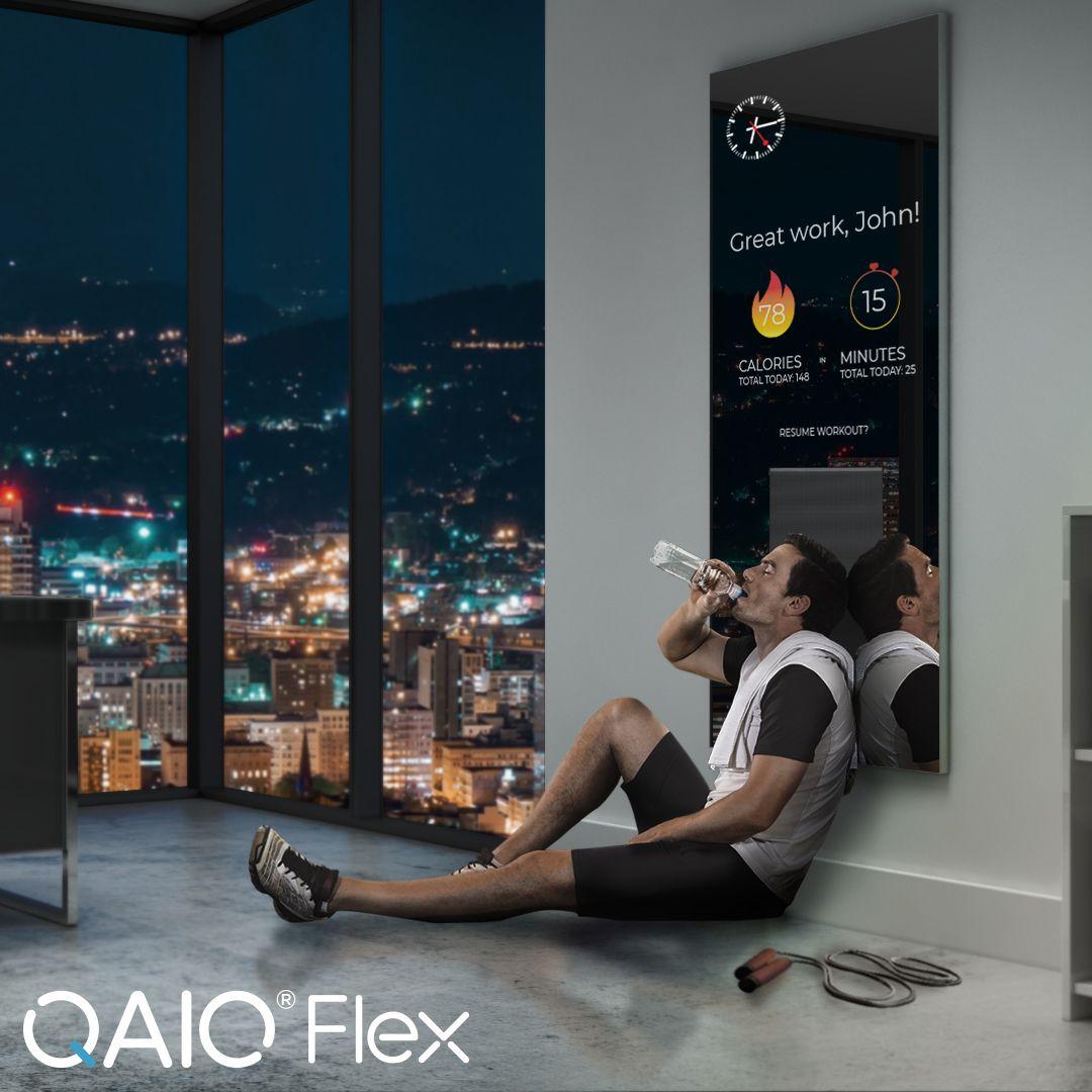 Qaio Flex Smart Fitness Mirror Workout Apps Fitness
