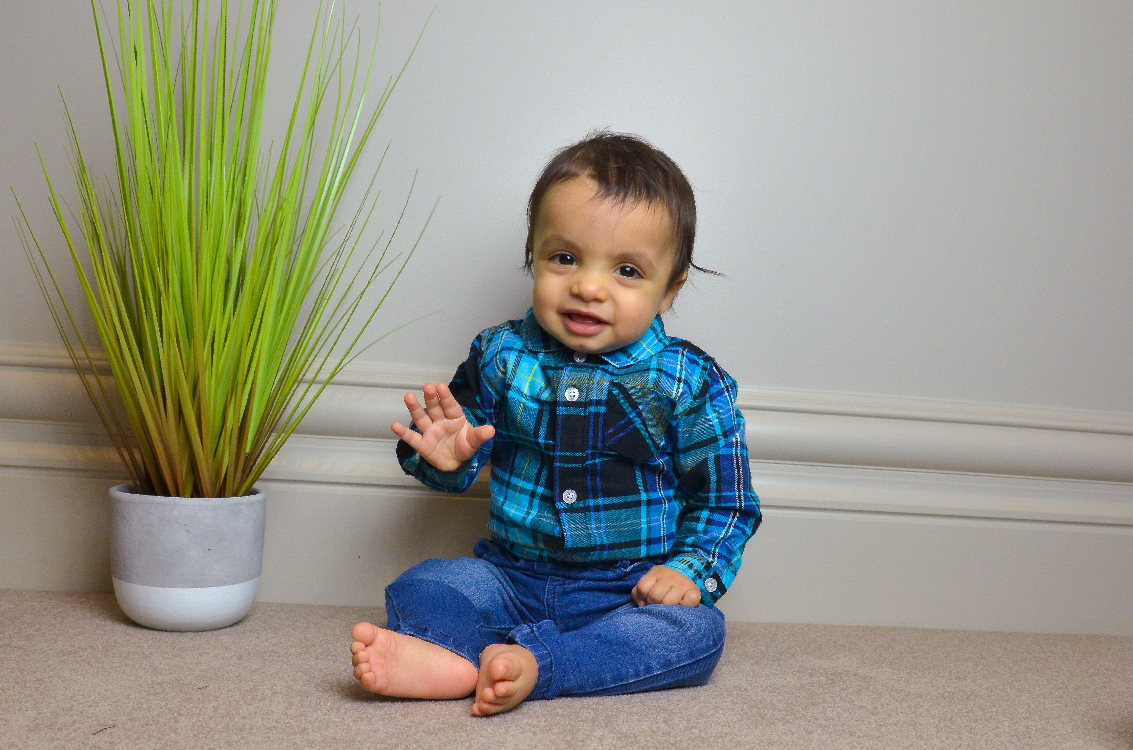 2 Piece Gentleman Plaid Romper Amp Jeans Set Baby Boy