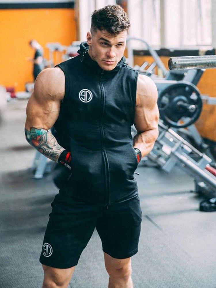 Men S Bodybuilding Fitness Zipper Singlet Men S Fitness Apparel Men S Workout Tank Tops Vivinch Mens Workout Tank Tops Hoodies Men Style Mens Workout Clothes