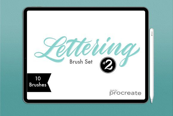Download Procreate Lettering Brush Pack 2 in 2020 | Procreate ...