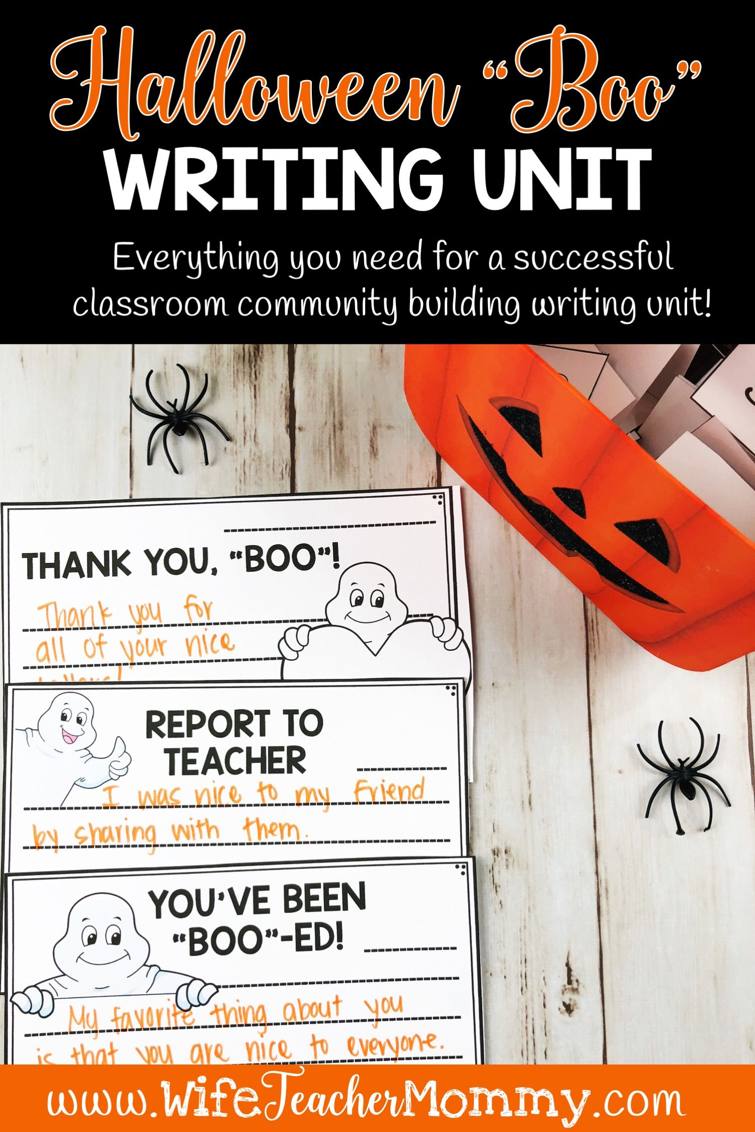Halloween Boo Writing Unit