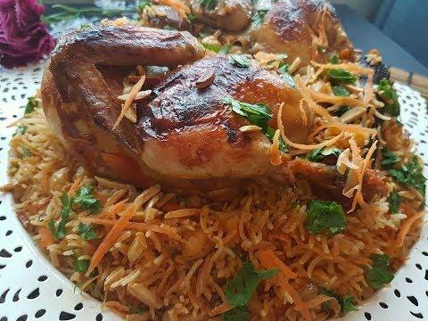 757 أطيب أرز بخاري بالدجاج رهيييييب ولذيذ جدا انصحكم تجربوه Youtube Food Arabic Food Chicken