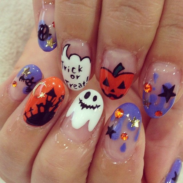 Halloween By Quieyelashnail Nail Nails Nailart Desain Kuku Pedicure Nail Art Desain Seni Kuku