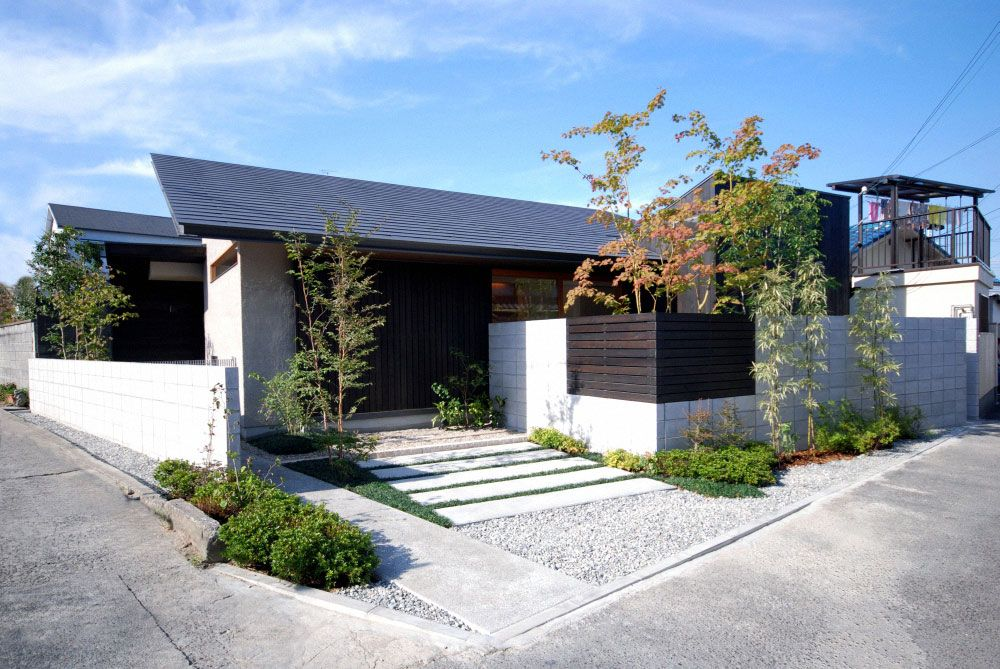 Modern house design one story wood structure minimalist for Single story modern house