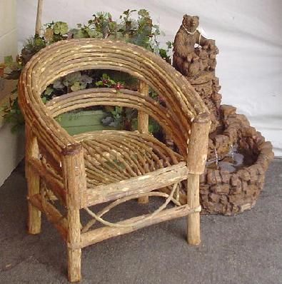Patio Chairs Plant Nursery Willow Furniture High Quality