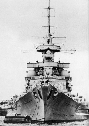 Front View Of The Gneisenau After She Was Refitted She Now Had A