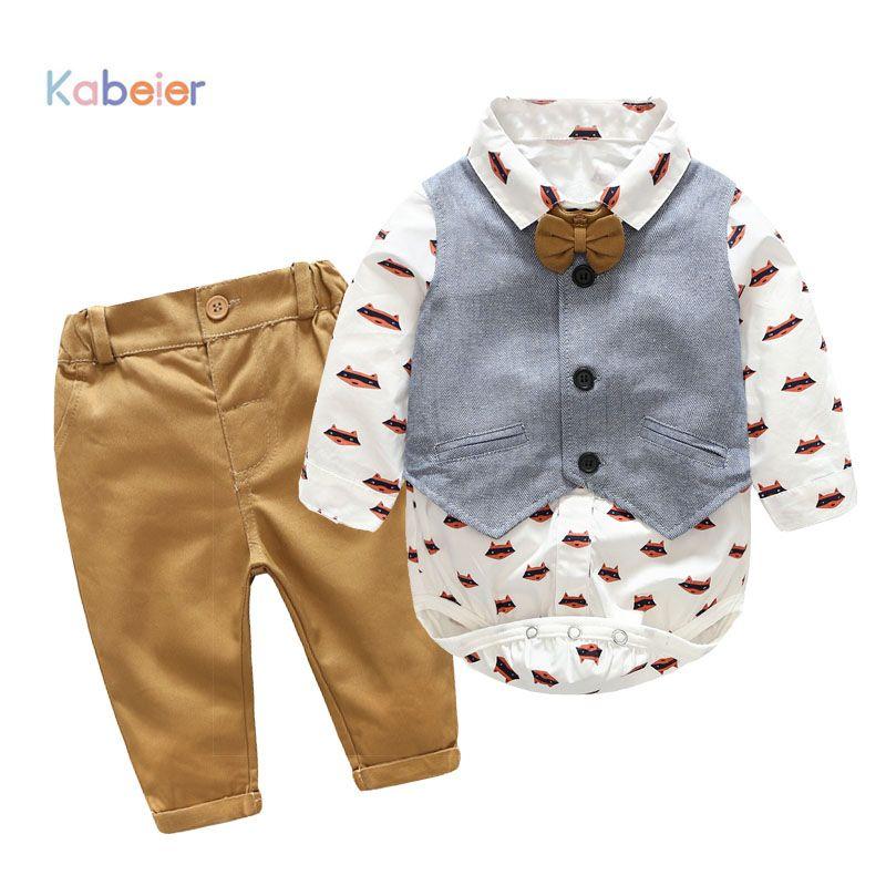 28b3b81c9 Newborn Boy Clothing Sets Cotton Gentleman 2018 Autumn Spring ...