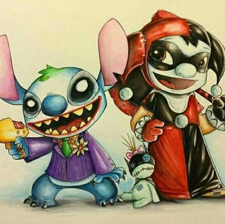 Stitch -The Joker. Lilo - Harley Quin. | Ohana means Family (Lilo ...