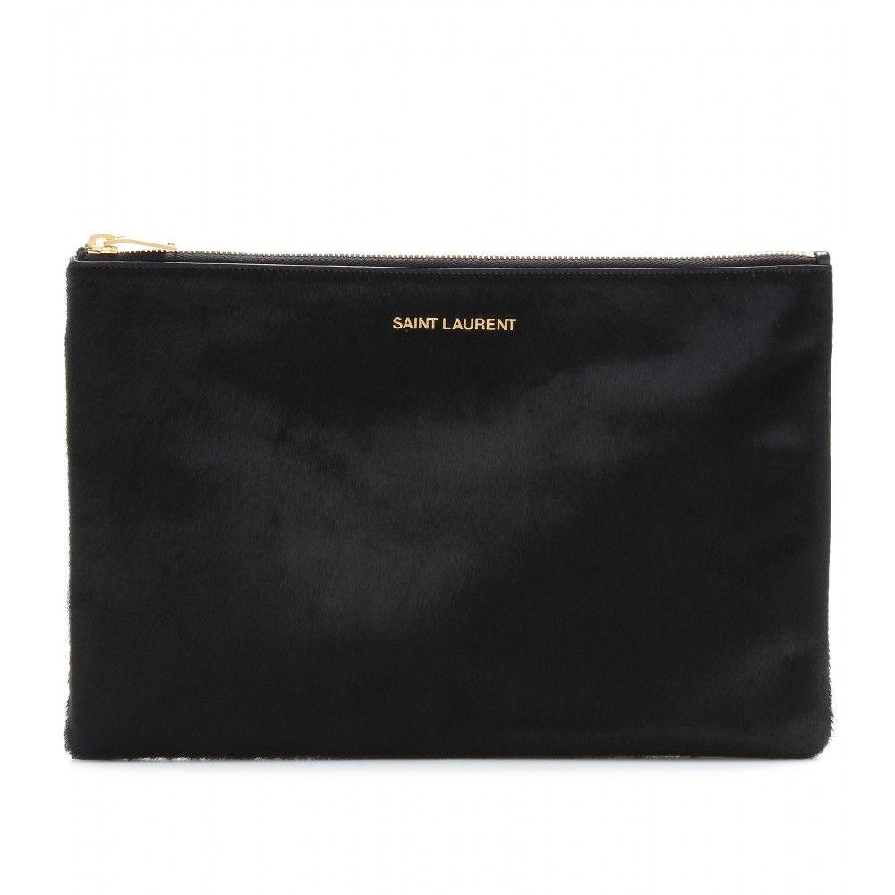 eb72820d64b9 Saint Laurent Pony Hair Clutch Clutch Bags