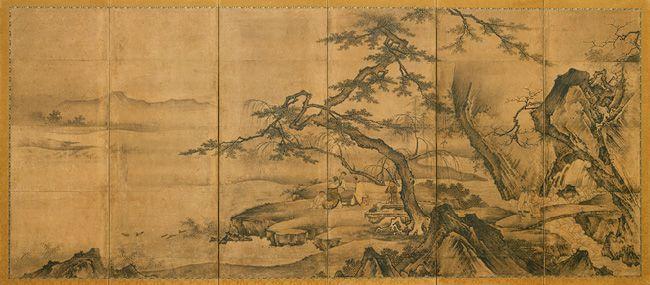 The Four Accomplishments, Muromachi period (1392–1573), mid-16th century Kano Motonobu (Japanese, 1476–1559)