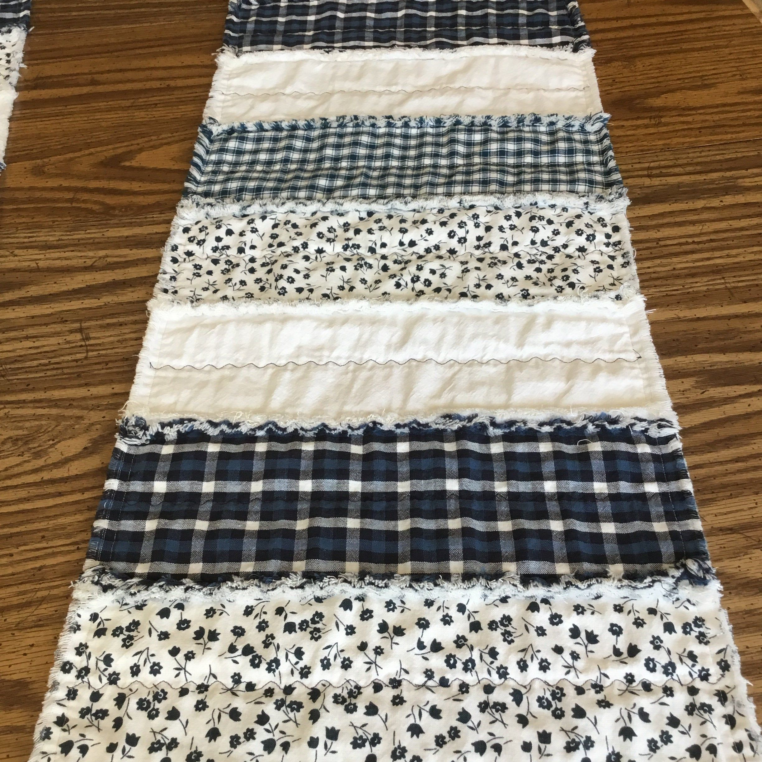 Quilted Table Runner, Farmhouse Table Runner, Primitive