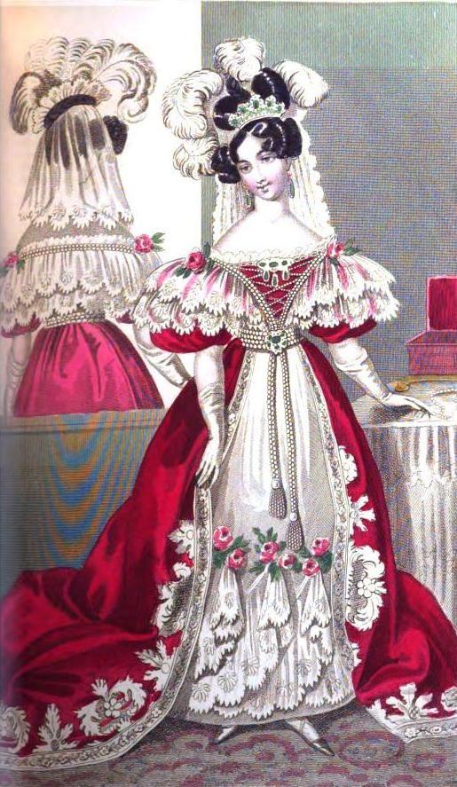 19th Century Drawing Room: Fashion Illustration Vintage