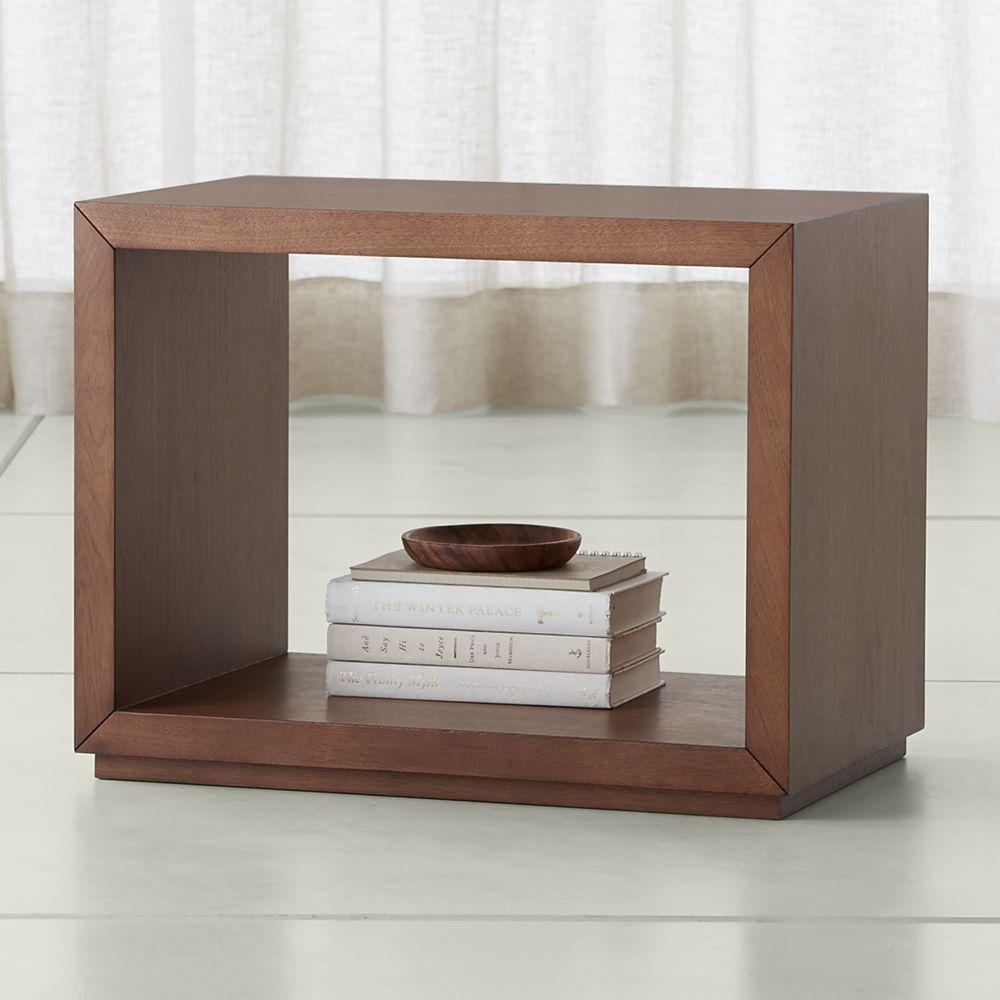 Aspect walnut 23 75 modular open storage unit