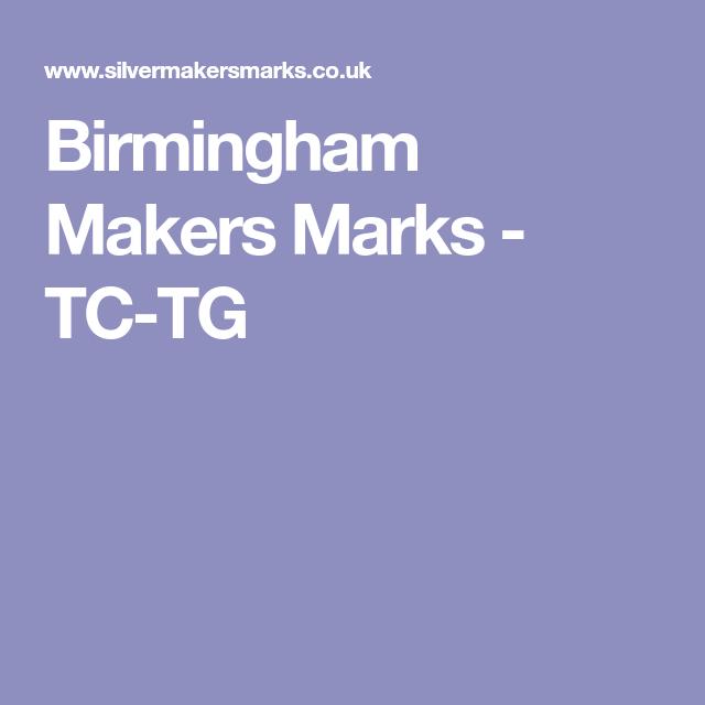 Silver makers marks birmingham
