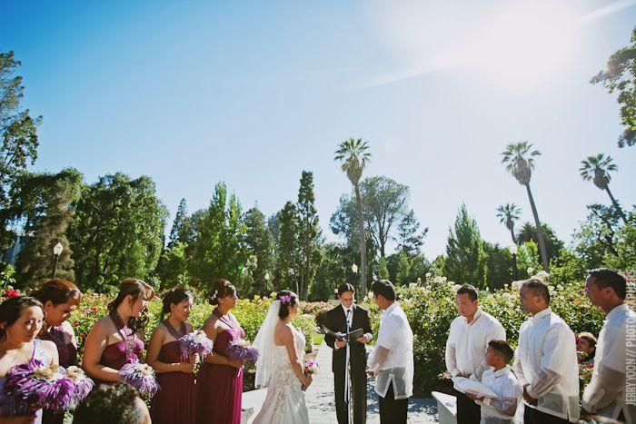 Capitol Rose Garden Ceremony Wedding San Francisco San