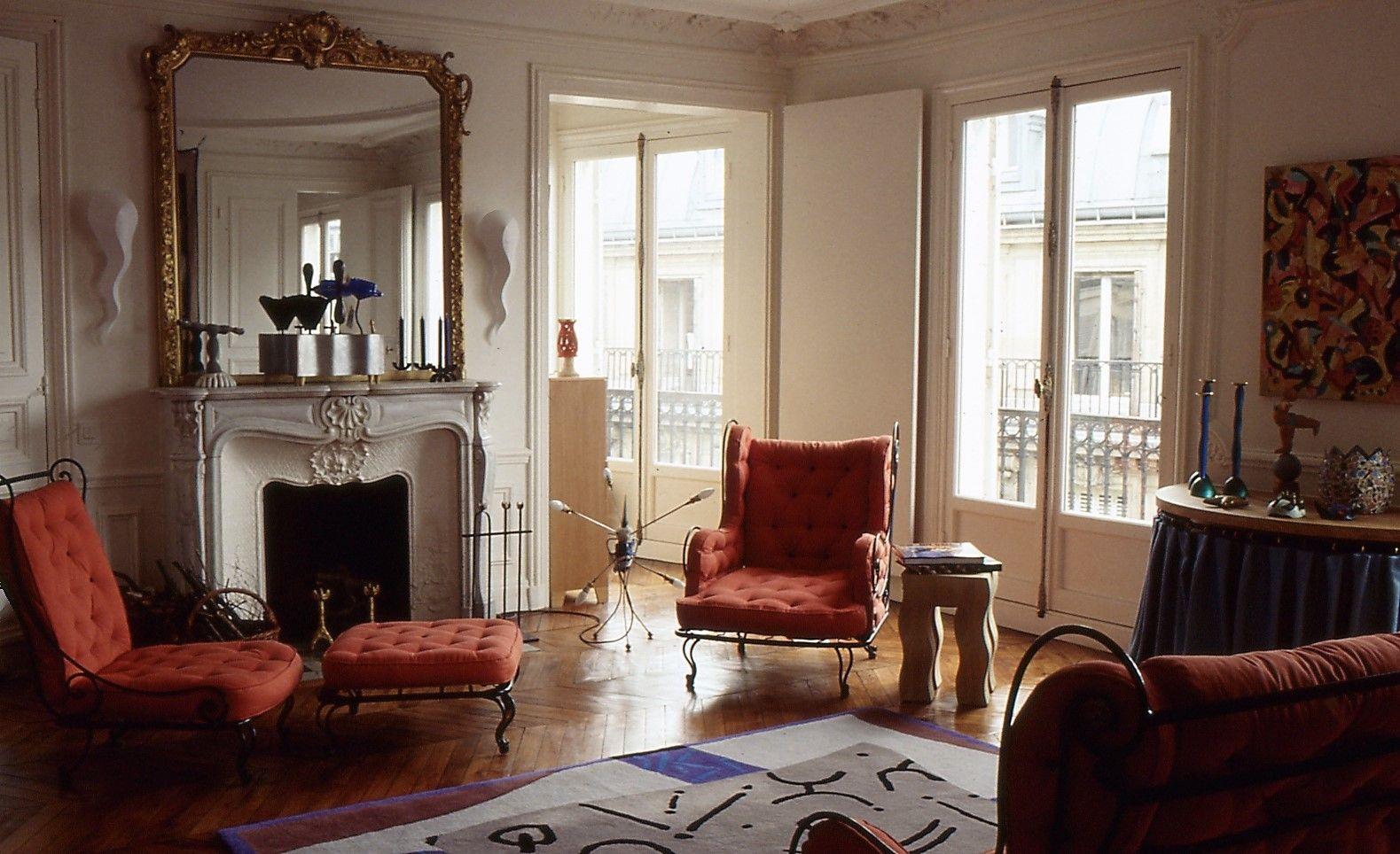 salon paris 80s Haussmannien, Decoration et Salon