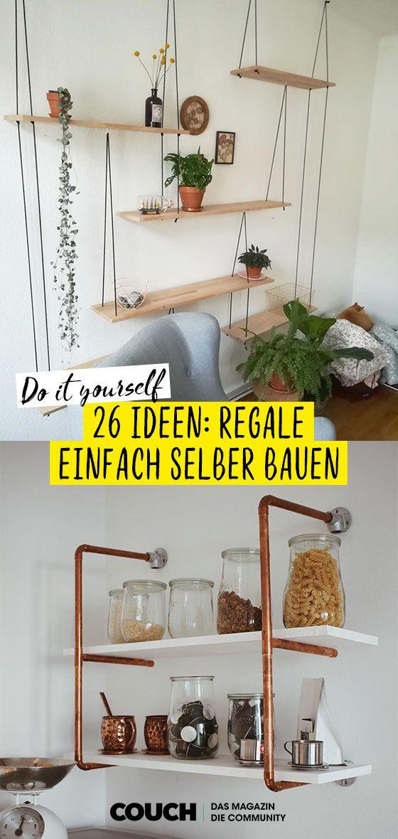 DIY Regal: Individuelle Regale selber bauen, so geht's!