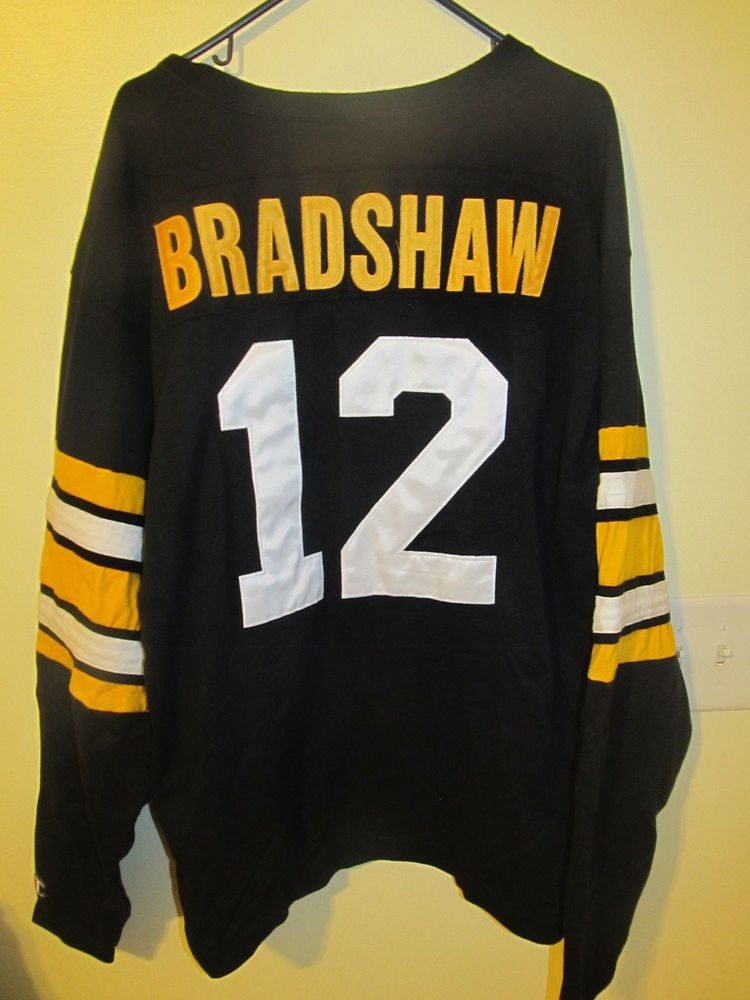 detailed look d0dfe 5e1c9 Vintage Terry Bradshaw Pittsburgh Steelers Jersey Champion ...