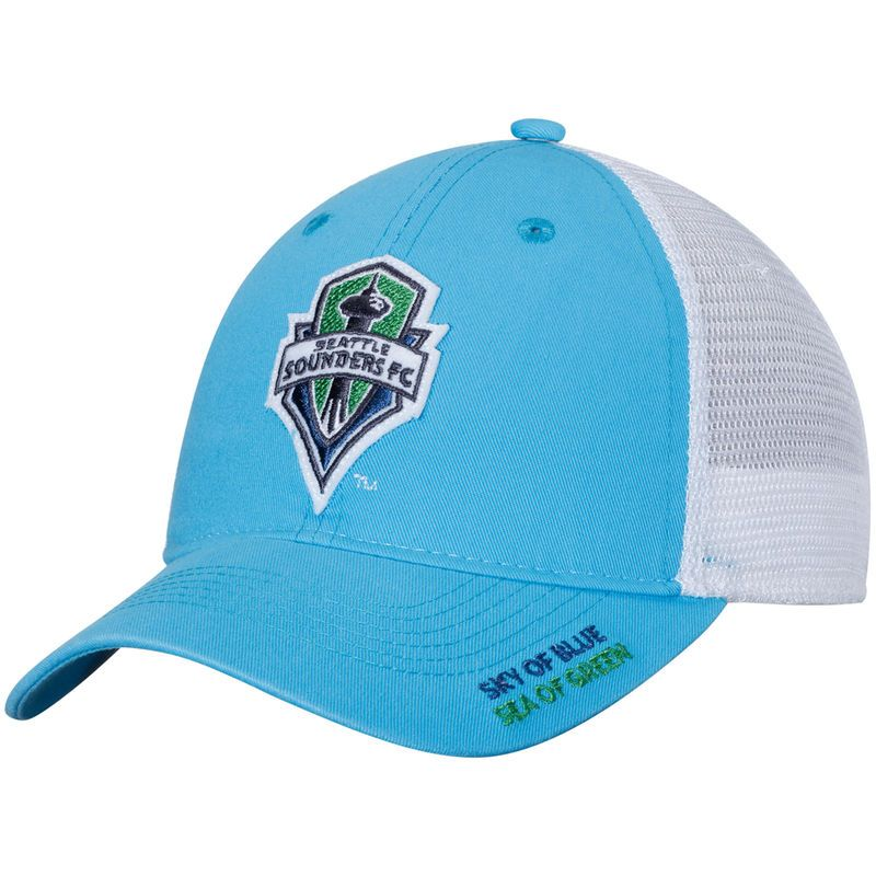 designer fashion 2e284 1cce3 Seattle Sounders FC adidas Jersey Hook Trucker Adjustable Snapback Hat - Light  Blue White