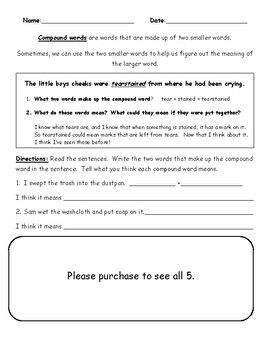 Tudor Clothes Worksheet Excel Identifying The Meaning Of Compound Words Worksheetfree  Blank Venn Diagram Worksheets with Atomic Structure Worksheet With Answers Identifying The Meaning Of Compound Words Worksheetfree Compound  Wordsworksheetsstudents How To Write Cursive Letters Worksheets