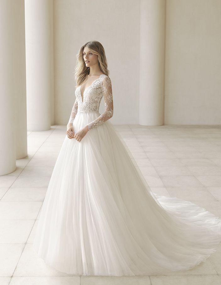 vestido de noiva de rosa clará (pergola), coleção couture, corte