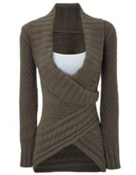 63% Off on Long Sleeve Asymmetrical #Sweater For #Women  #couponscodefinder #sammydress