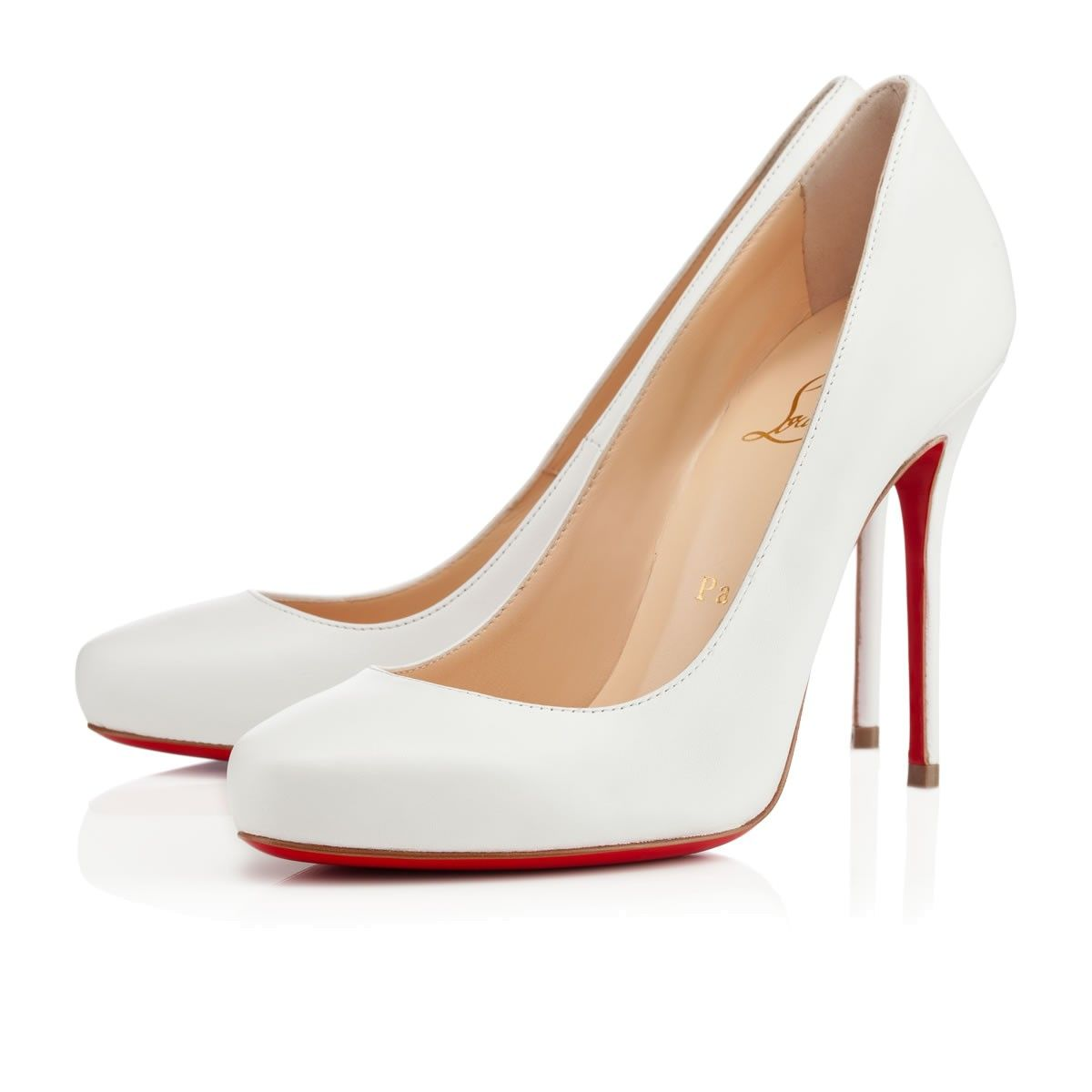 louboutin femme blanche