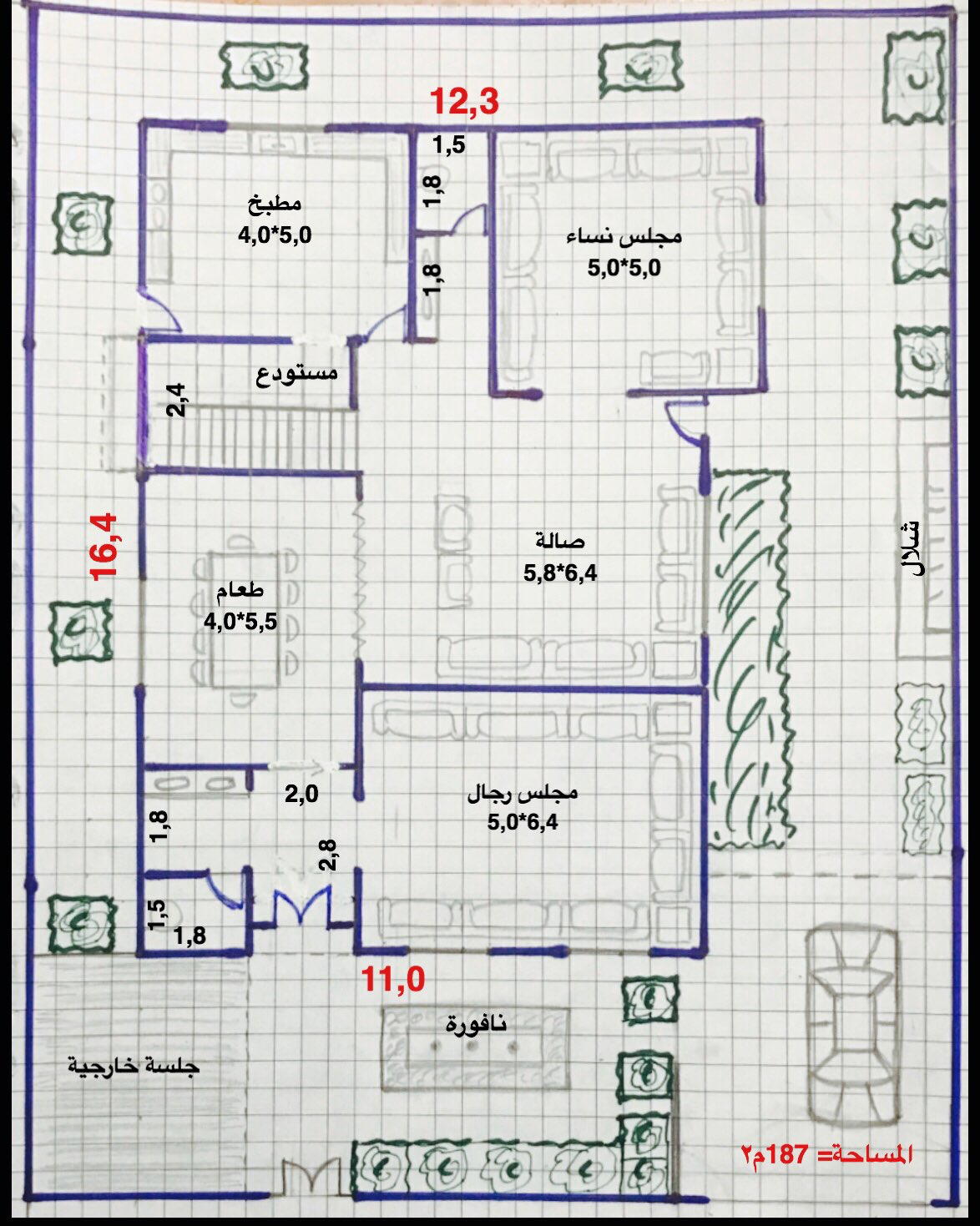 مخطط فلا مناسب House Floor Design Square House Plans Home Design Floor Plans