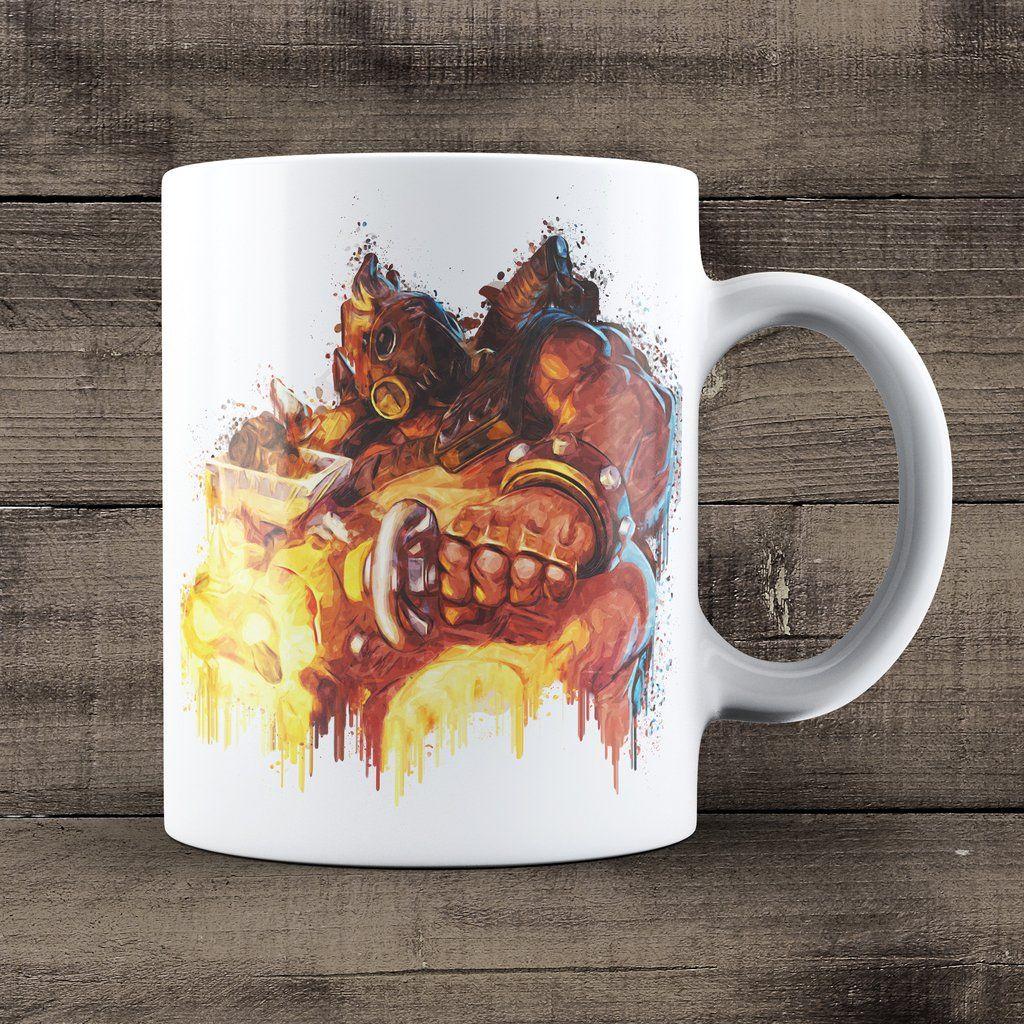 Roadhog Overwatch Coffee Mug, Overwatch Game Mug