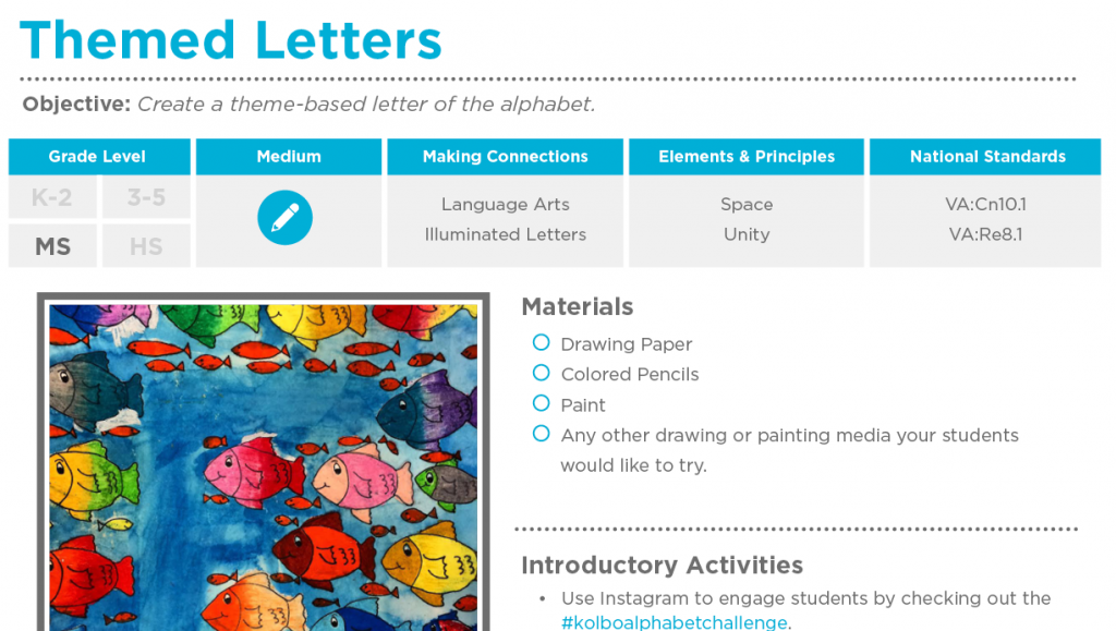 Lesson Plan Download | kids art and craft ideas | Art