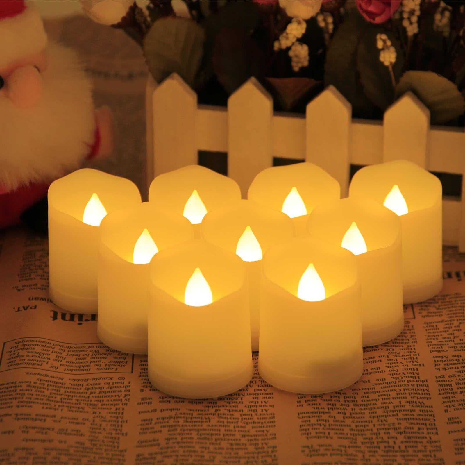 Yorbay 9 X Led Kerzen Flammenlose Teelichter Warmweiss Mit
