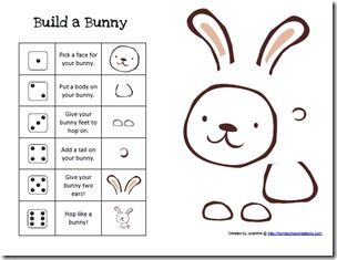 Build A Bunny Printable Game Easter Activities Knuffle