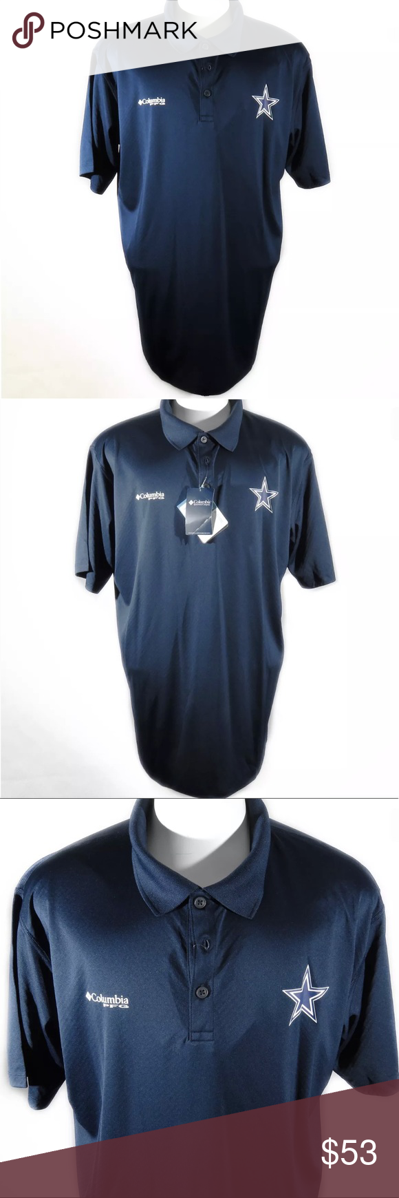 ced3153b75a Columbia Dallas Cowboys PFG Polo Size XL NWT Columbia Dallas Cowboys PFG  Polo (Performance Fishing Gear) Haven't worn this in months and I'm  deciding to ...