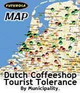 Dutch coffeeshop Tourist Tolerance Map