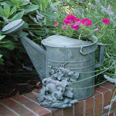 Ladybug Garden Resin Pot Planter
