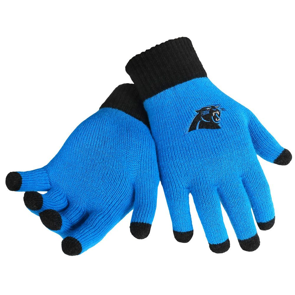 Carolina Panthers NFL Glove Solid Outdoor Winter Stretch