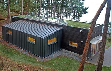 Este estudio en particular fue diseñado por los arquitectos Prentiss y se encuentra en la Isla San Juan, Washington, EE.UU.. La petición de los clientes er