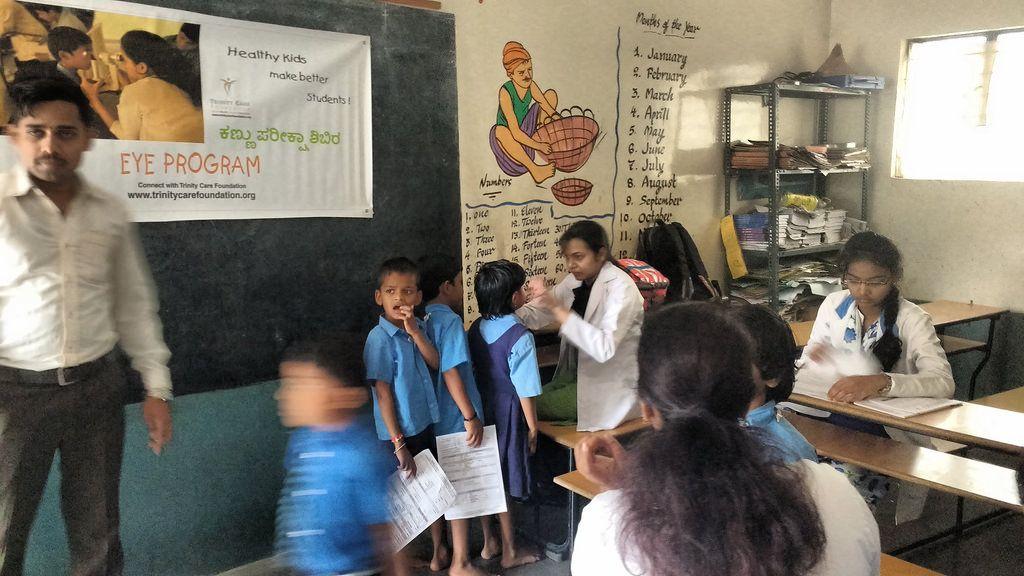 School eye checkup Bangalore India School health, Health