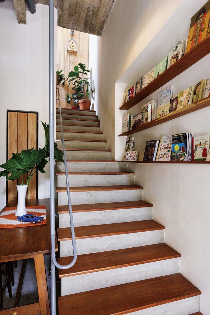 Resultado de imagen de escaleras con huella de madera casa escalones de madera escaleras de - Escaleras de madera modernas ...
