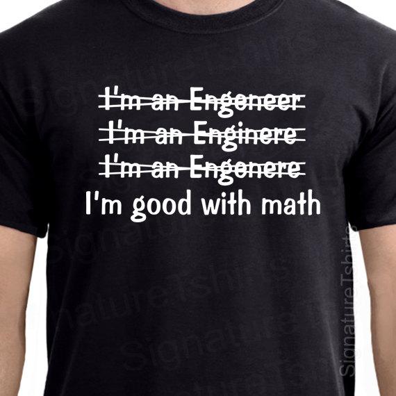 bb2230cd Engineer Mens T-shirt Good With Math tshirt shirt funny typography Womens  Husband gift idea College Valentines Day Gift Graduation Tee shirt